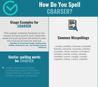 Correct spelling for coarser