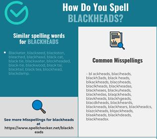 Correct spelling for blackheads