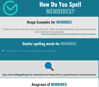 Correct spelling for memoires