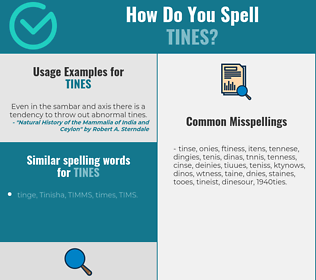 Correct spelling for tines