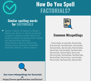 Correct spelling for factorials