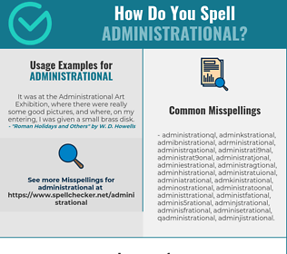 Correct spelling for administrational