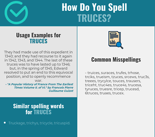 Correct spelling for truces