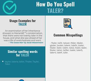 Correct spelling for taler