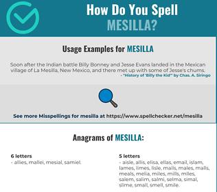 Correct spelling for Mesilla