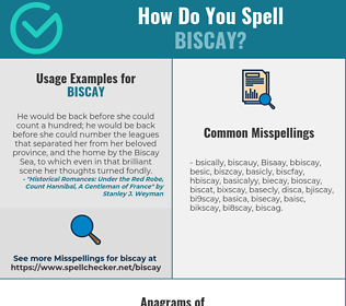 Correct spelling for Biscay