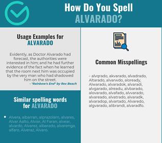 Correct spelling for Alvarado