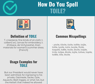 Correct spelling for toile