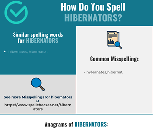 Correct spelling for hibernators