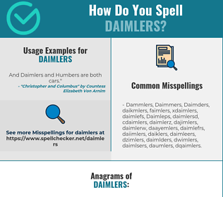Correct spelling for Daimlers