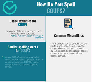 Correct spelling for coups