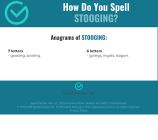 Correct spelling for stooging