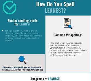 Correct spelling for leanest