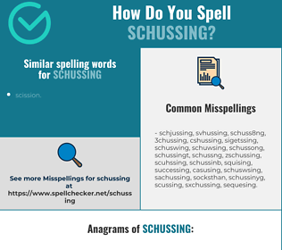 Correct spelling for schussing