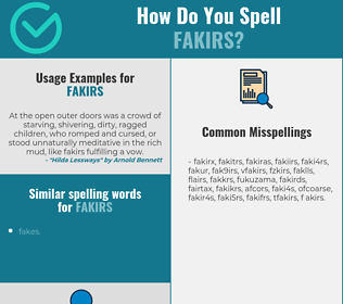 Correct spelling for fakirs