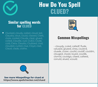 Correct spelling for clued