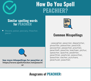 Correct spelling for peachier