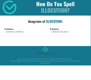 Correct spelling for illocution