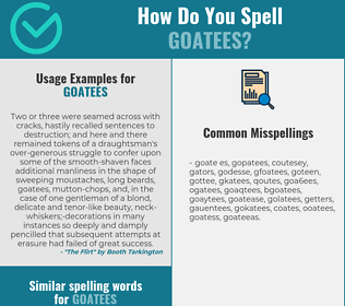 Correct spelling for goatees