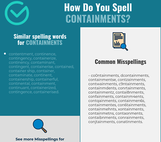 Correct spelling for containments