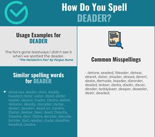 Correct spelling for deader
