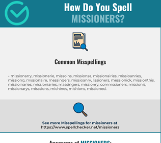 Correct spelling for missioners