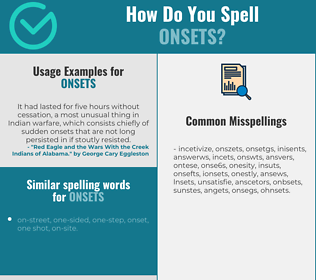 Correct spelling for onsets