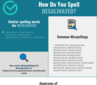 Correct spelling for desalinated