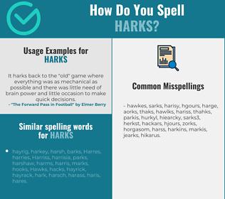 Correct spelling for harks