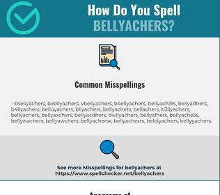 Correct spelling for bellyachers