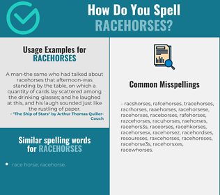 Correct spelling for racehorses