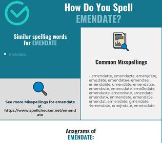 Correct spelling for emendate