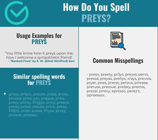 Correct spelling for preys