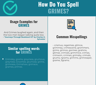 Correct spelling for Grimes