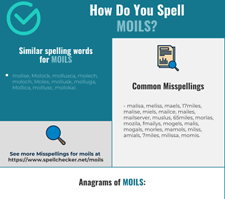 Correct spelling for moils