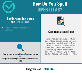 Correct spelling for operettas