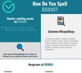 Correct spelling for roans