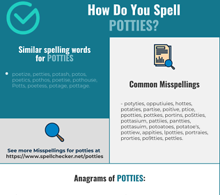 Correct spelling for potties