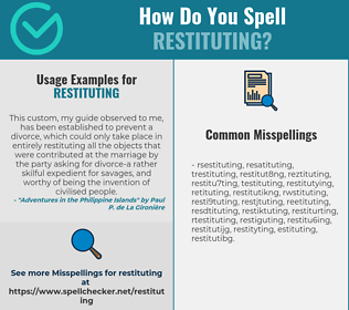 Correct spelling for restituting