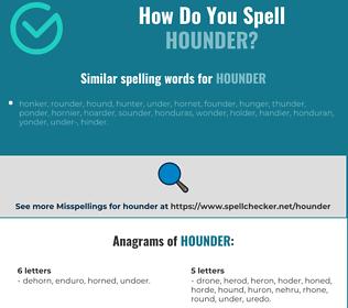 Correct spelling for hounder