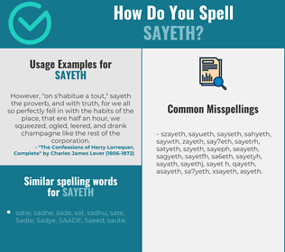 Correct spelling for sayeth