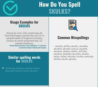 Correct spelling for skulks