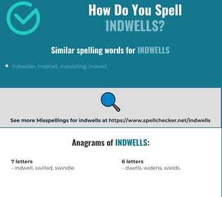Correct spelling for indwells
