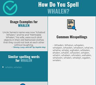Correct spelling for Whalen