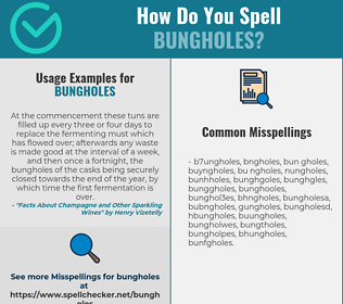 Correct spelling for bungholes