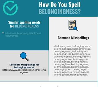 Correct spelling for belongingness