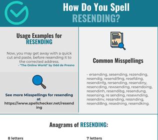 Correct spelling for resending
