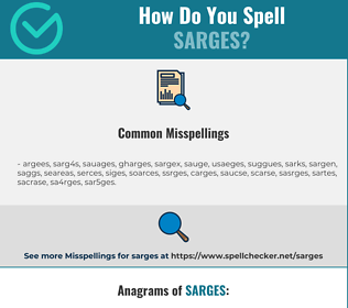 Correct spelling for sarges