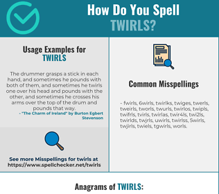 Correct spelling for twirls