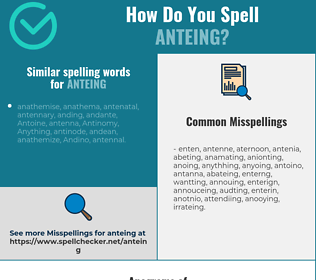 Correct spelling for anteing